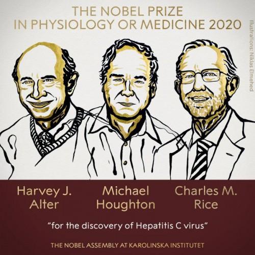 諾貝爾醫學獎:發現C型肝炎3美英學者共獲殊榮